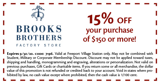 Coupons Available For Use At Freeport Village Station Premium Outlet In Freeport Maine