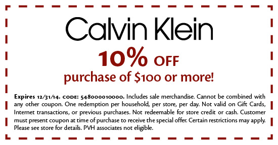 Calvin klein coupon code