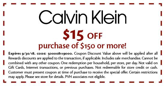 Calvin Klein - Coupon
