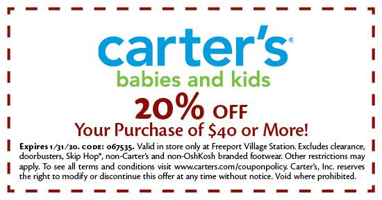 Carter's - Coupon