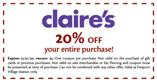 Claire's - Coupon