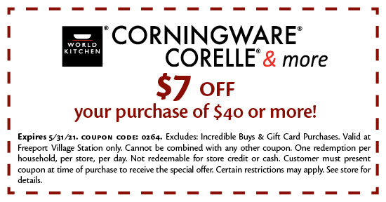 Corningware Corelle & More - Coupon
