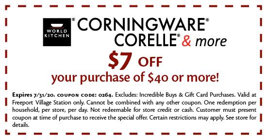 Corningware Corelle & More - Coupon