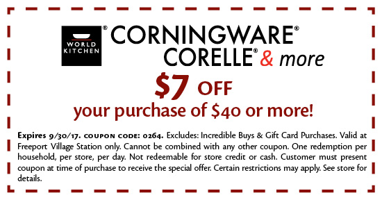Corningware coupon outlet