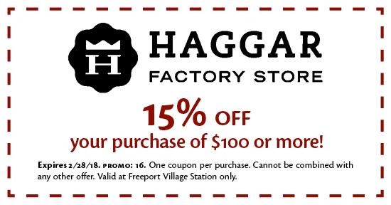 Haggar Factory Store - Coupon