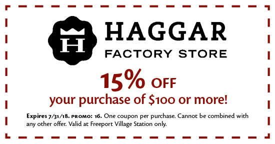Haggar Factory Store - Coupon