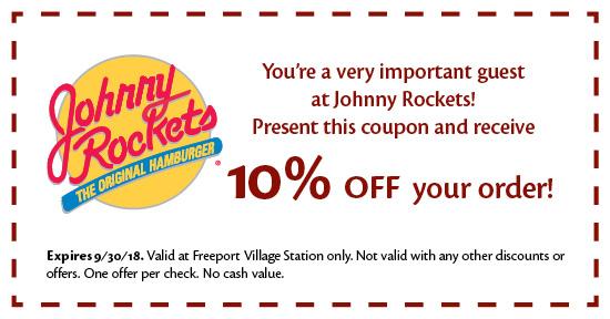 Johnny Rockets - Coupon