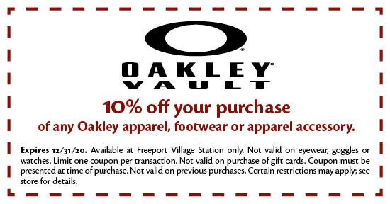Oakley Vault - Coupon