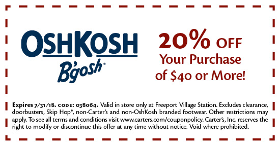 OshKosh B'gosh - Coupon