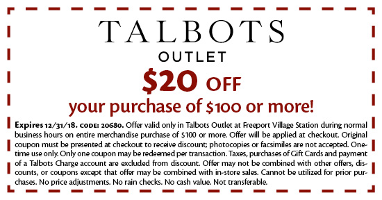 Talbots Outlet - Coupon