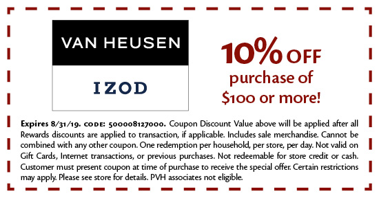 Van Heusen - Coupon