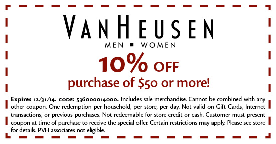 Van outlet coupons