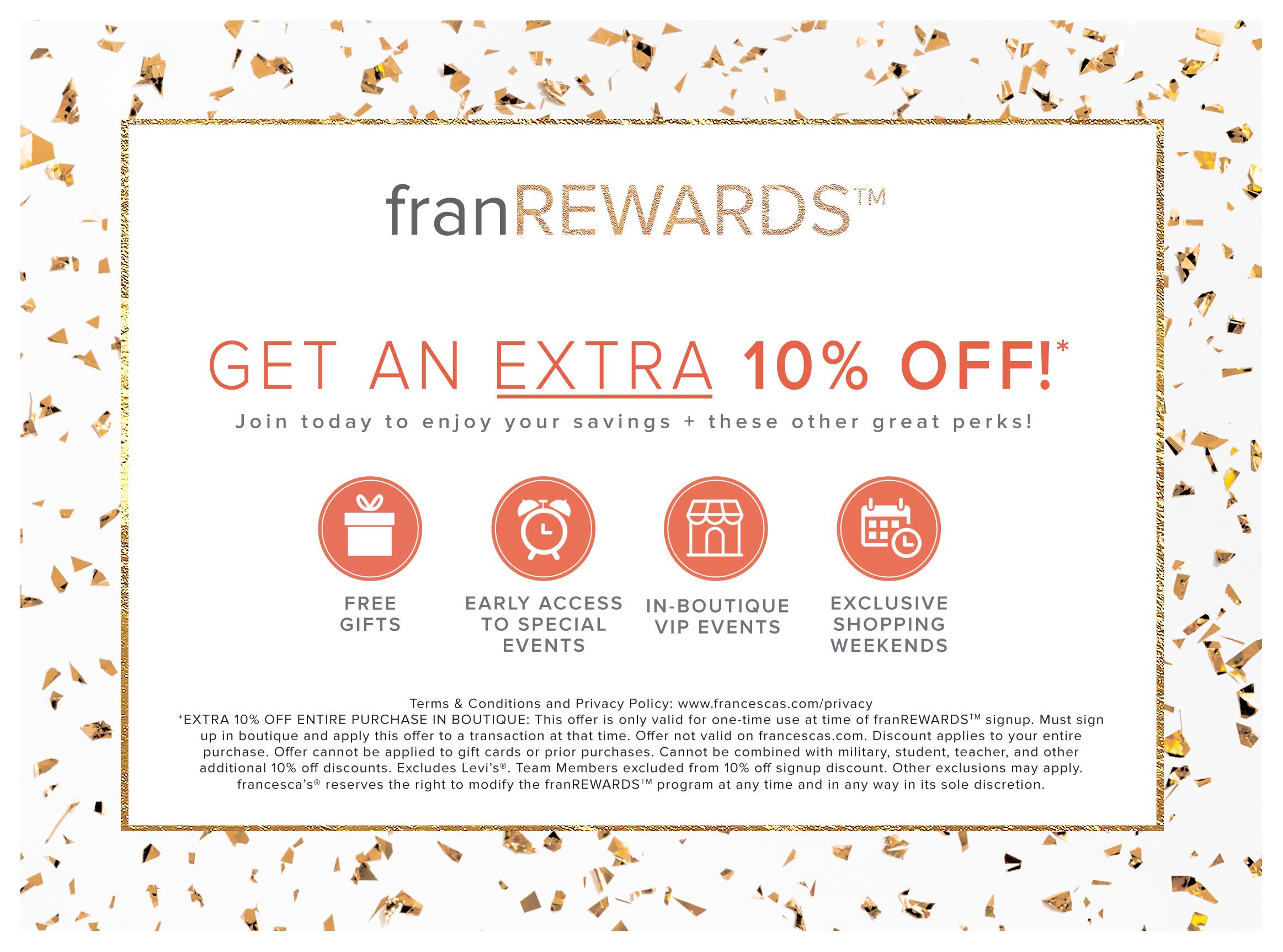 Francesca's - Special Offer