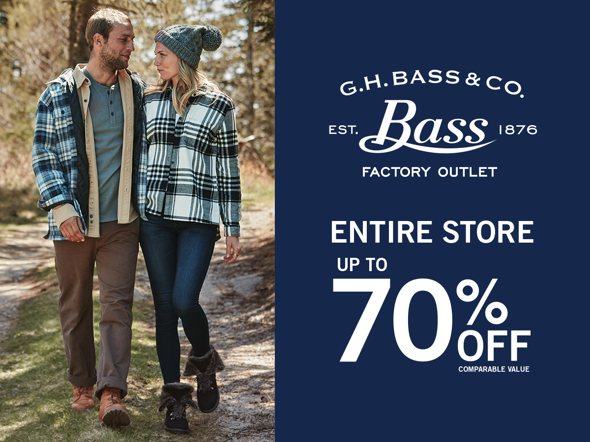 The complete list of G.H. Bass & Co. Outlet Store locations in the United States.