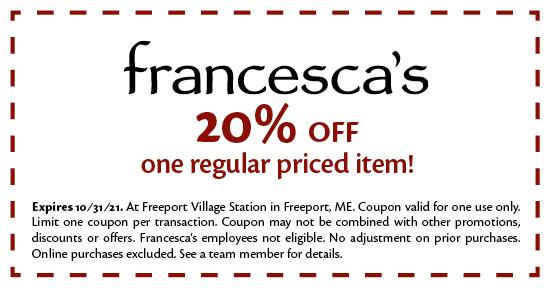 Francesca's - Coupon